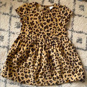 Corduroy leopard dress 18 months